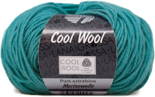 Lana Grossa Cool Wool 502 Turquoise Blue