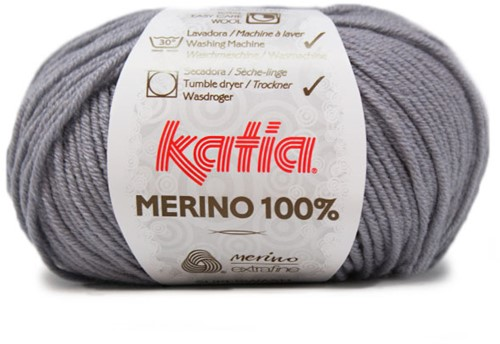 Katia Merino 100% 504 Medium grey