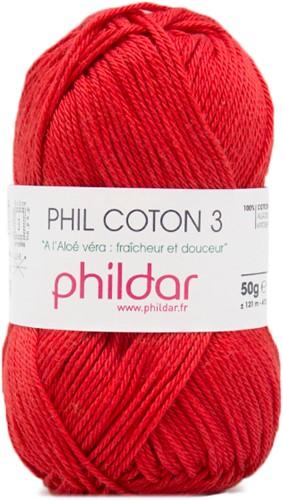 Phildar Phil Coton 3 1272 Cerise