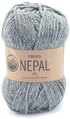 Drops Nepal Mix 517 Medium Grey