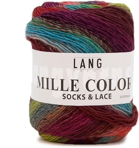 Lang Yarns Mille Colori Socks & Lace 53 Pink/Ciel/Green