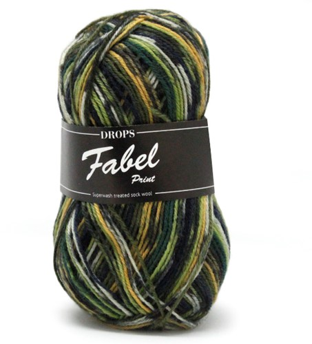 Drops Fabel Print 542 Green