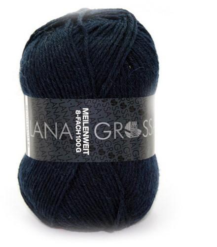 Lana Grossa Meilenweit Sportwolle 556 Night Blue