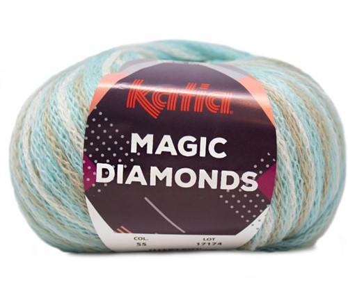Katia Magic Diamonds 055 Sky Blue / Ecru / Beige