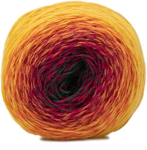 Katia Rainbow Socks In The Box 55 Yellow-Orange-Red-Green