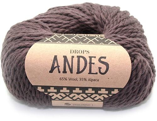 Drops Andes Uni Colour 5610 Brown