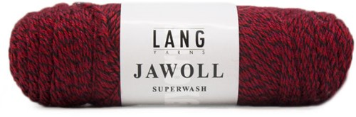 Lang Yarns Jawoll Superwash 56 Dark Red/Black