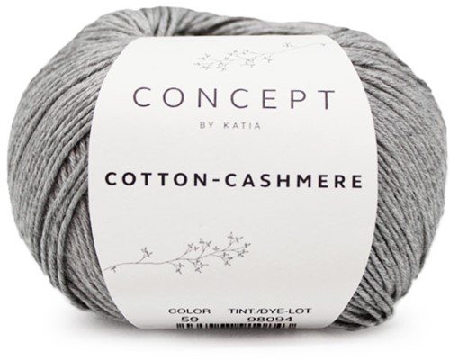 Katia Cotton Cashmere 59 Grey