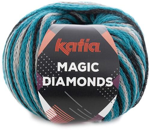 Katia Magic Diamonds 059 Turquoise / Grey / Black