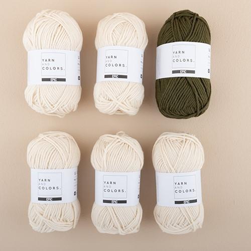 Yarn and Colors Striped Jumper Knit Knit 4 M Khaki