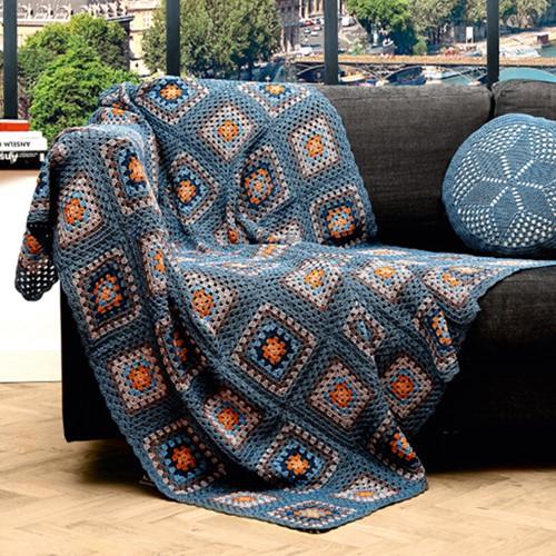 SMC Catania Granny Square Blanket Crochet Kit
