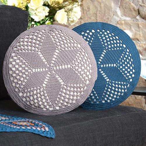 Crochet Pattern Catania Round Cushion
