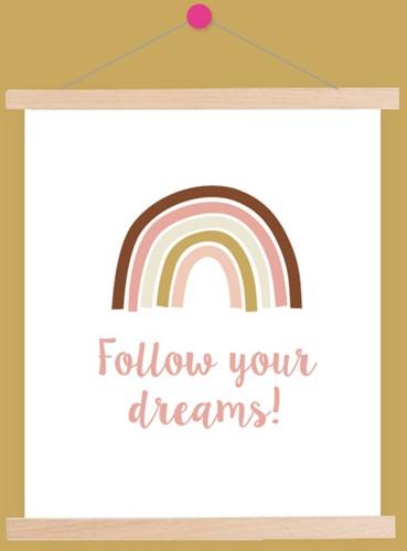 Yarnplaza Rainbow Poster 3 Vintage pink