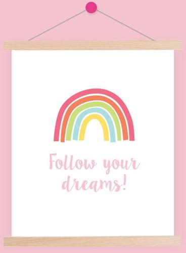 Yarnplaza Rainbow Poster 1 Pastel