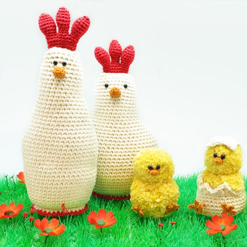Crochet Pattern Chicken with Chicks