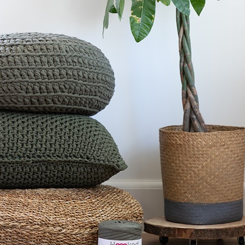 Crochet Pattern Zpagetti Granite Cushion