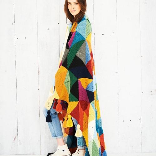 Tessellation Blanket Crochet Kit 2 Autumn Colours Colourway