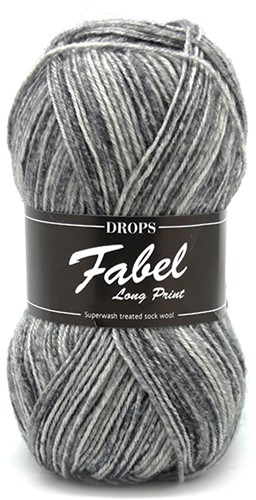 Drops Fabel Long Print 602 Silver-fox