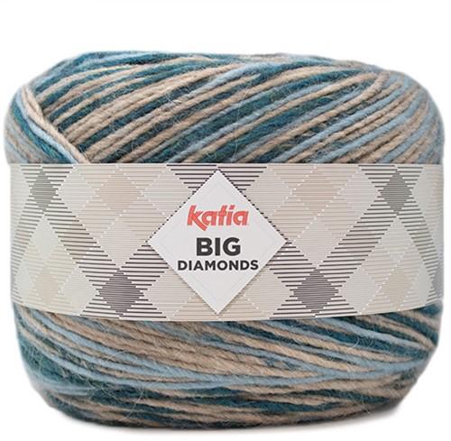 Katia Big Diamonds 604 Light Blue/ Stone Grey/Blue