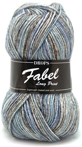 Drops Fabel Long Print 604 Ocean-view