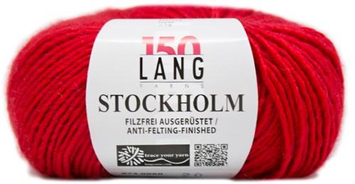 Lang Yarns Stockholm 60 Tulip Red