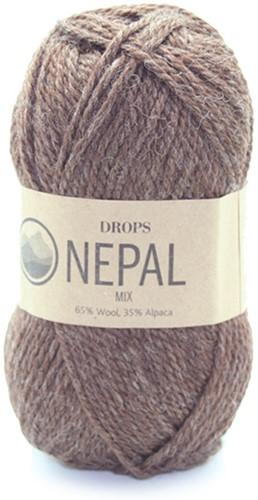 Drops Nepal Mix 612 Medium Brown