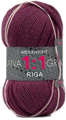 Lana Grossa Meilenweit 100 1:1 Riga 612 Bordeaux/Pink/Skin