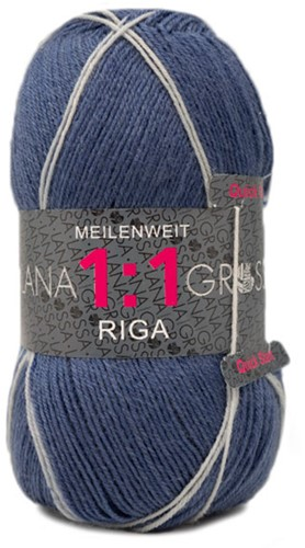 Lana Grossa Meilenweit 100 1:1 Riga 613 Dark Blue/Green/Bordeaux