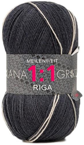 Lana Grossa Meilenweit 100 1:1 Riga 615 Black/Fuchsia/Blue/Yellow