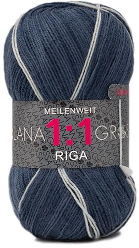 Lana Grossa Meilenweit 100 1:1 Riga 616 Dark Blue/Mint/Purple