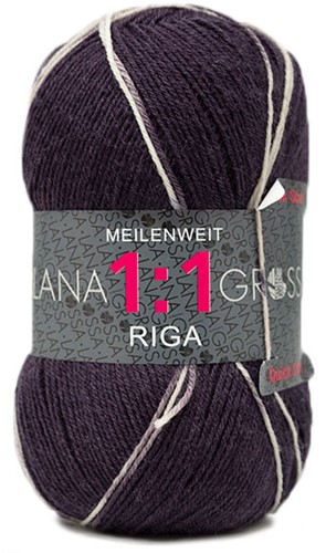 Lana Grossa Meilenweit 100 1:1 Riga 617 Black/Denim/Green/Petrol