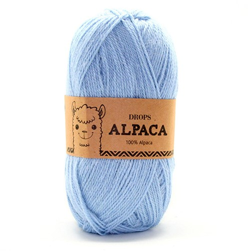 Drops Alpaca Uni Colour 6205 Light Blue