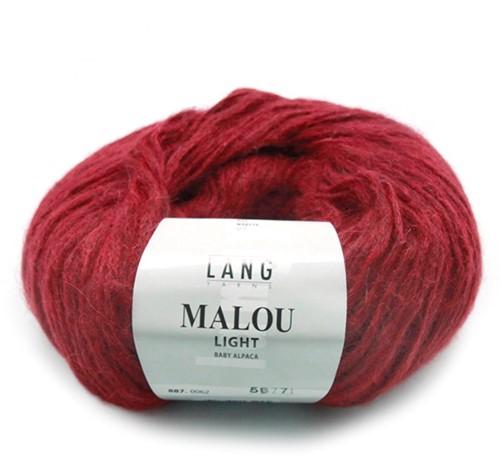 Lang Yarns Malou Light 62 Dark Red