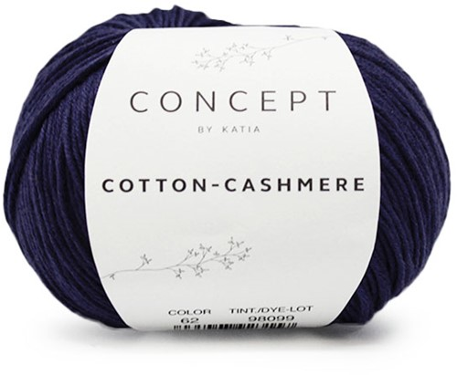 Katia Cotton Cashmere 62 Dark blue