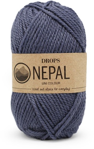 Drops Nepal Uni Colour 6314 Denim Blue
