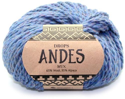 Drops Andes Mix 6343 Twilight Blue