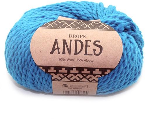 Drops Andes Uni Colour 6420 Turquoise