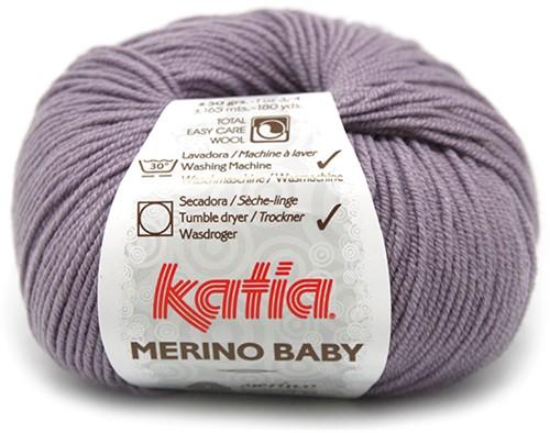 Katia Merino Baby 65 Dark mauve