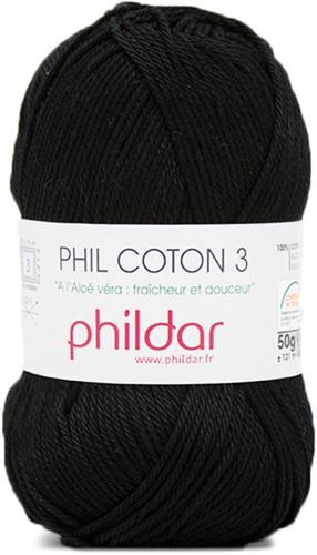 Phildar Phil Coton 3 1200 Noir