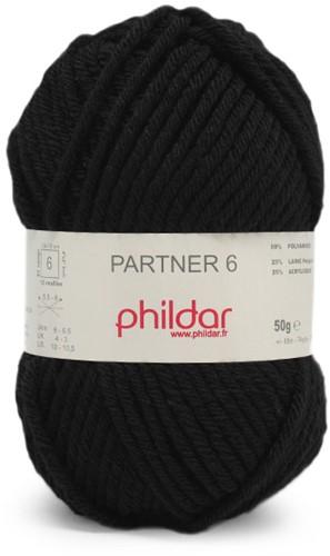 Phildar Partner 6 1200 Noir