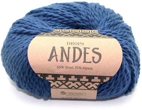 Drops Andes Uni Colour 6928 Royal Blue