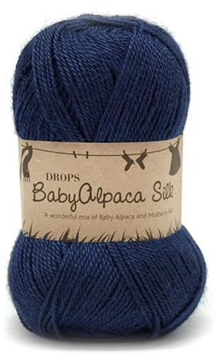 Drops BabyAlpaca Silk Uni Colour 6935 Navy-blue