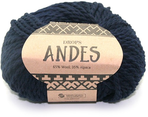 Drops Andes Uni Colour 6990 Navy Blue