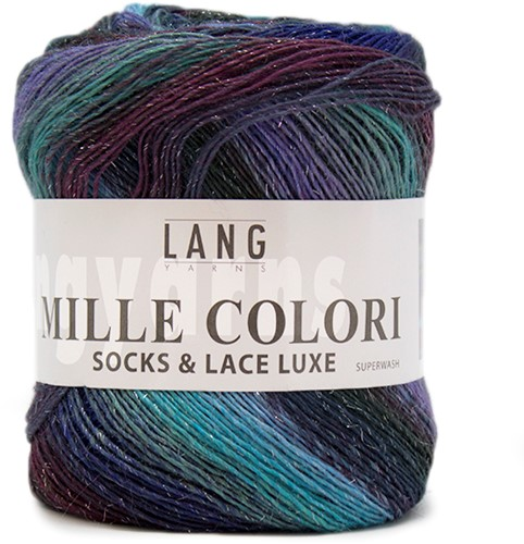 Lang Yarns Mille Colori Socks & Lace Luxe 06 Blue/Green/Eggplant