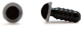 Safety Eyes Grey 6mm per pair