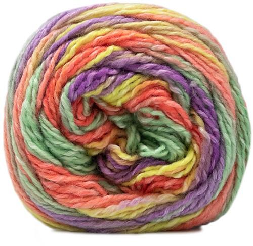 Lana Grossa Gomitolo Conseta 706 Purple/Citrus Yellow/Salmon/Pastel Green