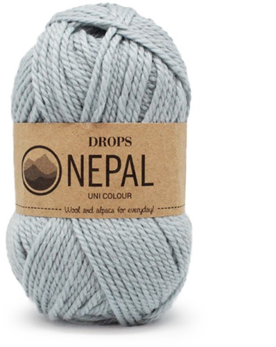 Drops Nepal Uni Colour 7120 Light Grey Green