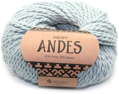Drops Andes Uni Colour 7120 Light Grey Green