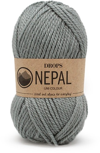 Drops Nepal Uni Colour 7139 Grey/Green