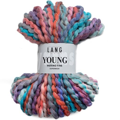 Lang Yarns Young 72 Aqua/Red/Blue